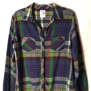 DICKIES PLAID SHIRT SIZE LARGE